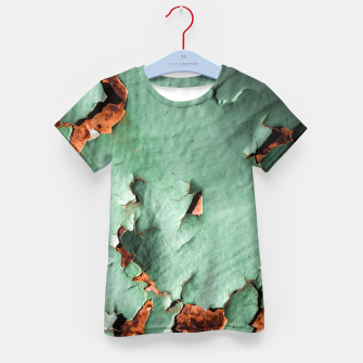 Cool turquoise brown rusty metal  Kid's T-shirt thumbnail image