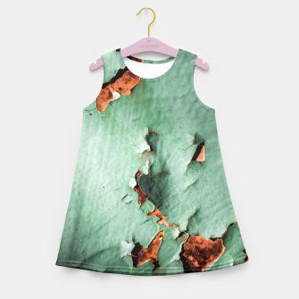 Cool turquoise brown rusty metal  Girl's Summer Dress thumbnail image