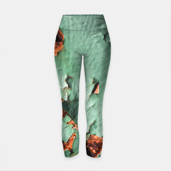 Cool turquoise brown rusty metal  Yoga Pants thumbnail image