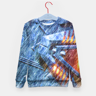 Thumbnail image of Chevron Kid's sweater, Live Heroes