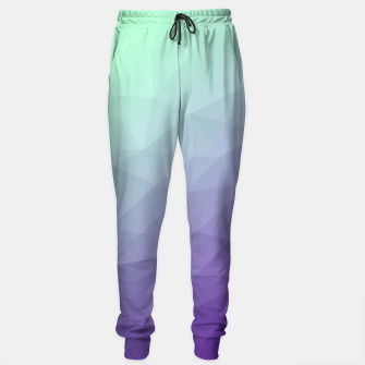 Miniaturka Purple green ombre gradient geometric mesh Sweatpants, Live Heroes
