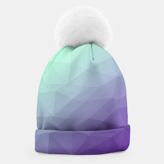 Thumbnail image of Purple green ombre gradient geometric mesh Beanie, Live Heroes