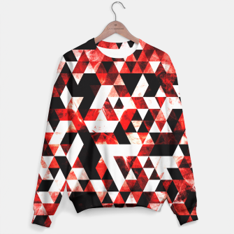 Triangle Geometric Vibrant Red Smoky Galaxy Sweater thumbnail image