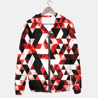 Triangle Geometric Vibrant Red Smoky Galaxy Hoodie thumbnail image