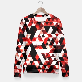 Triangle Geometric Vibrant Red Smoky Galaxy Fitted Waist Sweater thumbnail image