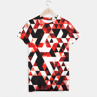 Triangle Geometric Vibrant Red Smoky Galaxy T-shirt thumbnail image