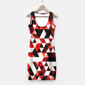 Triangle Geometric Vibrant Red Smoky Galaxy Simple Dress thumbnail image