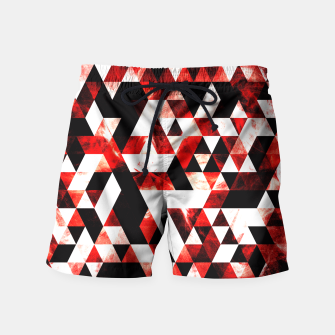 Triangle Geometric Vibrant Red Smoky Galaxy Swim Shorts thumbnail image