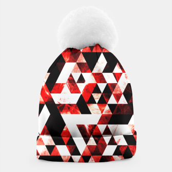 Triangle Geometric Vibrant Red Smoky Galaxy Beanie thumbnail image