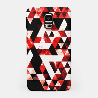 Triangle Geometric Vibrant Red Smoky Galaxy Samsung Case thumbnail image