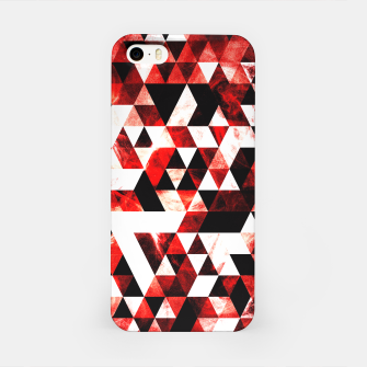 Triangle Geometric Vibrant Red Smoky Galaxy iPhone Case thumbnail image