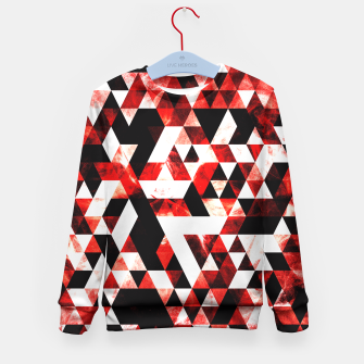 Triangle Geometric Vibrant Red Smoky Galaxy Kid's Sweater thumbnail image