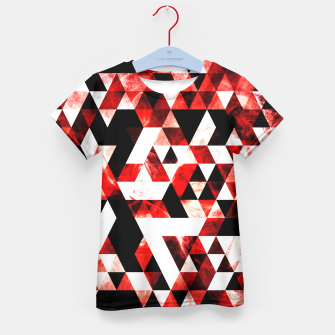Triangle Geometric Vibrant Red Smoky Galaxy Kid's T-shirt thumbnail image