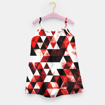 Triangle Geometric Vibrant Red Smoky Galaxy Girl's Dress thumbnail image