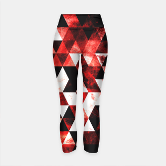 Triangle Geometric Vibrant Red Smoky Galaxy Yoga Pants thumbnail image