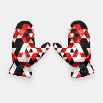 Triangle Geometric Vibrant Red Smoky Galaxy Gloves thumbnail image