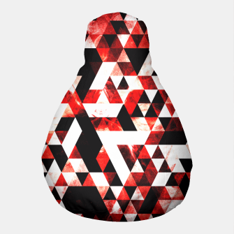 Triangle Geometric Vibrant Red Smoky Galaxy Pouf thumbnail image