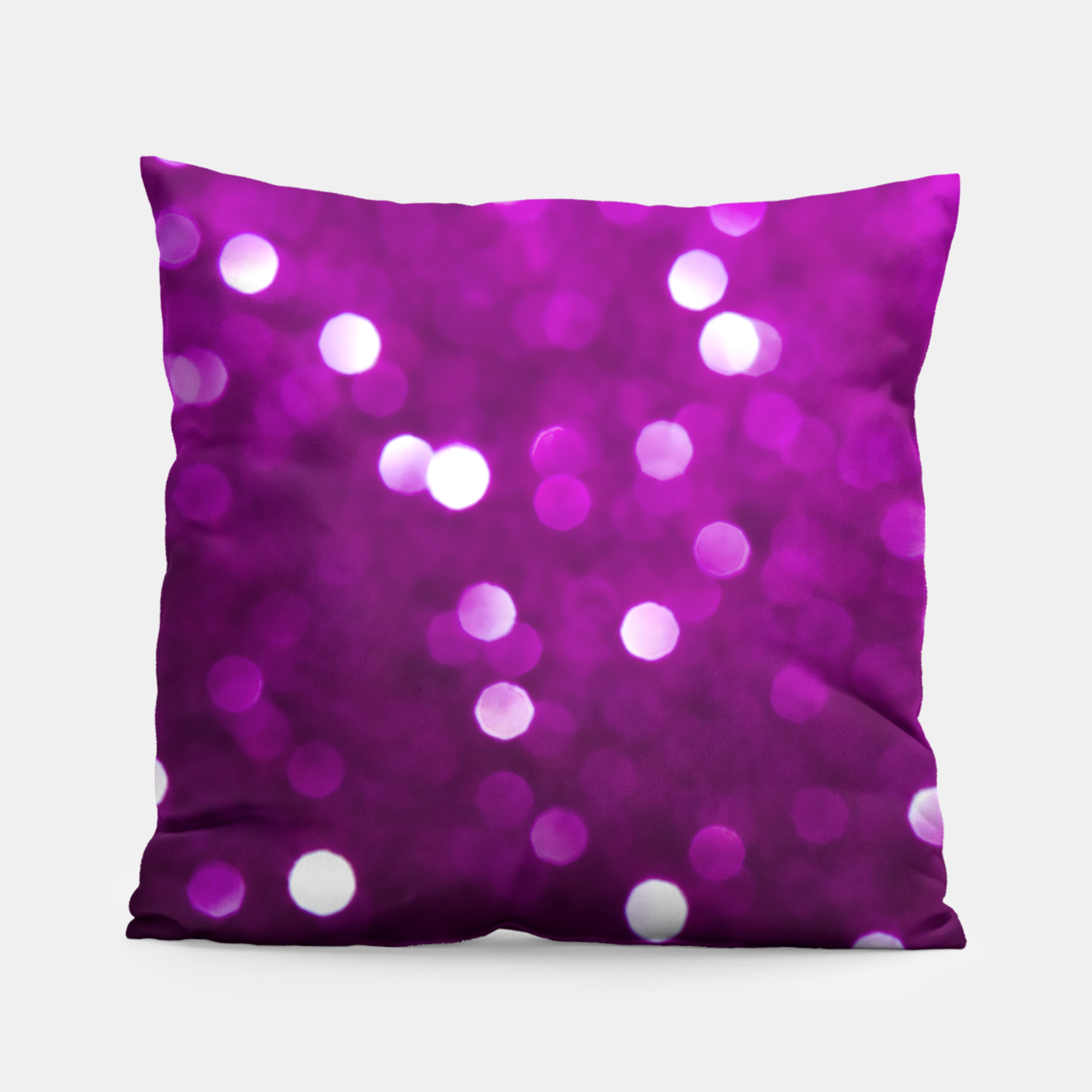 Image of Dark Pink Magenta Fuchsia Sparkly Bokeh Pillow - Live Heroes