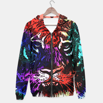 Thumbnail image of Rainbow Tiger Abstract Art Hoodie, Live Heroes