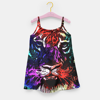 Thumbnail image of Rainbow Tiger Abstract Art Girl's Dress, Live Heroes