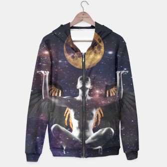 Thumbnail image of Artistic Nude Woman Angel Moon Art Hoodie, Live Heroes