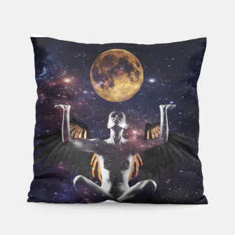 Thumbnail image of Artistic Nude Woman Angel Moon Art Pillow, Live Heroes