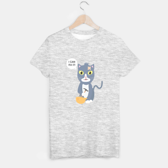 Thumbnail image of Construction Worker Cat T-shirt regular, Live Heroes