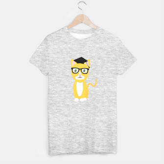 Miniatur nerd geek cat T-shirt regular, Live Heroes