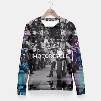 Thumbnail image of Motorcycle Fitted Waist Sweater, Live Heroes