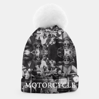 Thumbnail image of Motorcycle Beanie, Live Heroes