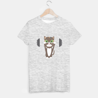 Thumbnail image of Fitness cat weight lifting   T-shirt regular, Live Heroes