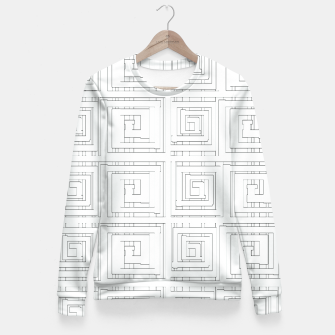 Thumbnail image of Egyptian Print Fitted Waist Sweater, Live Heroes