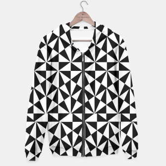 Thumbnail image of Geometric Bold Black White Funky Print Hoodie, Live Heroes