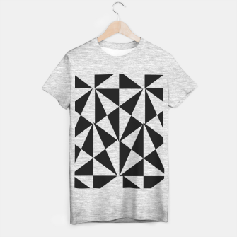 Thumbnail image of Geometric Bold Black White Funky Print T-shirt regular, Live Heroes