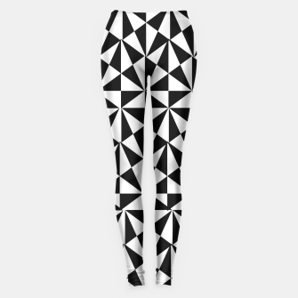 Thumbnail image of Geometric Bold Black White Funky Print Leggings, Live Heroes