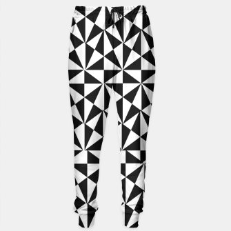 Thumbnail image of Geometric Bold Black White Funky Print Sweatpants, Live Heroes