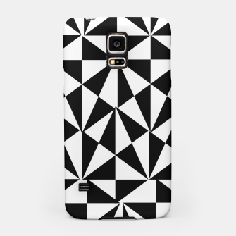 Thumbnail image of Geometric Bold Black White Funky Print Samsung Case, Live Heroes
