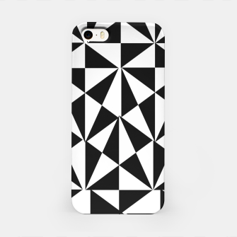Thumbnail image of Geometric Bold Black White Funky Print iPhone Case, Live Heroes