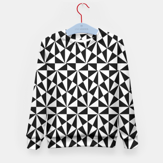 Thumbnail image of Geometric Bold Black White Funky Print Kid's Sweater, Live Heroes