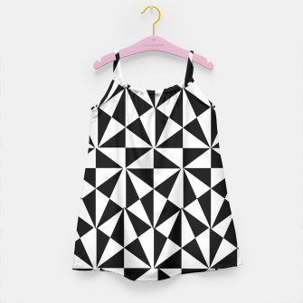Thumbnail image of Geometric Bold Black White Funky Print Girl's Dress, Live Heroes