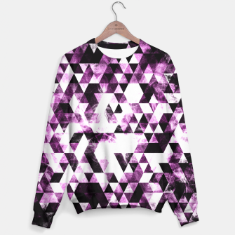 Triangle Geometric Vibrant Pink Smoky Galaxy   Sweater thumbnail image