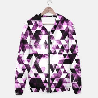 Triangle Geometric Vibrant Pink Smoky Galaxy   Hoodie thumbnail image