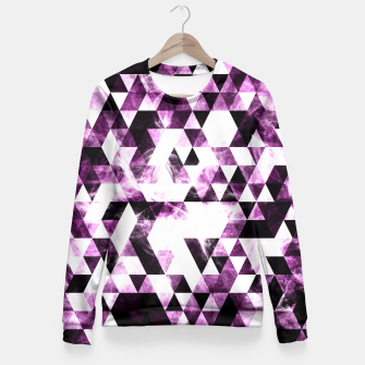 Triangle Geometric Vibrant Pink Smoky Galaxy   Fitted Waist Sweater thumbnail image