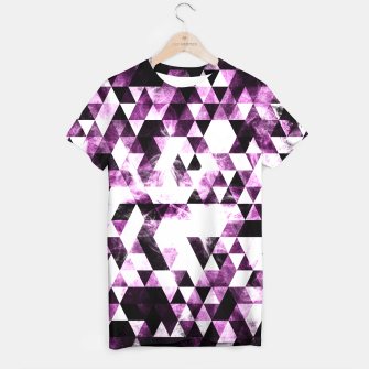 Triangle Geometric Vibrant Pink Smoky Galaxy   T-shirt thumbnail image