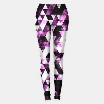 Triangle Geometric Vibrant Pink Smoky Galaxy   Leggings thumbnail image