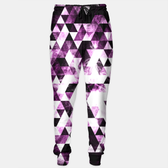 Triangle Geometric Vibrant Pink Smoky Galaxy   Sweatpants thumbnail image