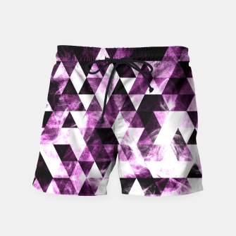 Triangle Geometric Vibrant Pink Smoky Galaxy   Swim Shorts thumbnail image