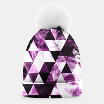 Triangle Geometric Vibrant Pink Smoky Galaxy   Beanie thumbnail image