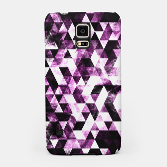 Triangle Geometric Vibrant Pink Smoky Galaxy   Samsung Case thumbnail image