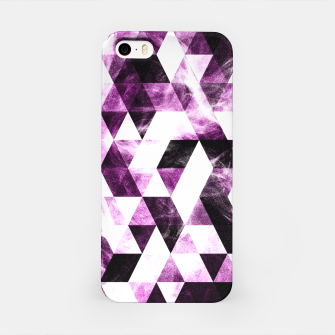 Triangle Geometric Vibrant Pink Smoky Galaxy   iPhone Case thumbnail image